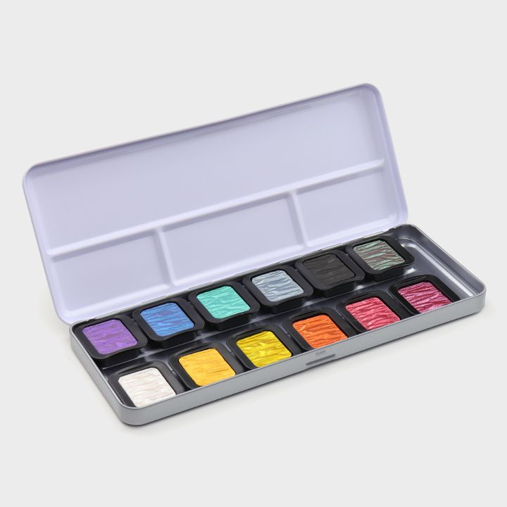 "12 Perlglanzfarben ""Rainbow"""