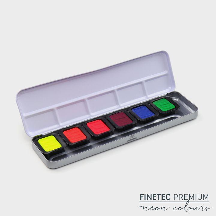 6 Neon-Aquarellfarben