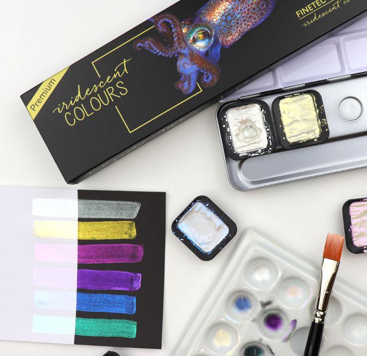 Irisierende Farben